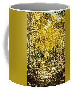 Golden Aspens In Colorado Mountains Coffee Mug