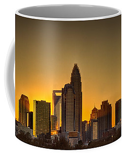 Golden Charlotte Skyline Coffee Mug