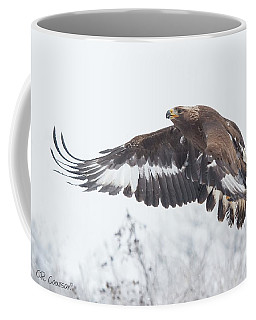 Golden Eagle In Winter Coffee Mug by CR Courson