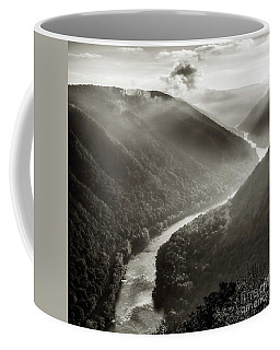 Coffee Mug featuring the photograph Grandview In Black And White by Thomas R Fletcher