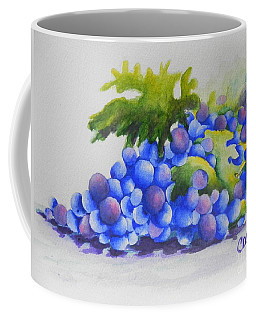 Coffee Mug featuring the painting Grapes by Chrisann Ellis