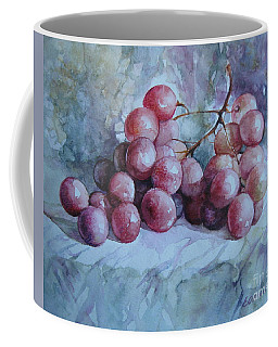 Coffee Mug featuring the painting Grapes... by Elena Oleniuc