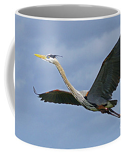 Great Blue Heron Flight 2 Coffee Mug