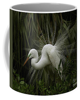 Great White Egret Displaying Coffee Mug
