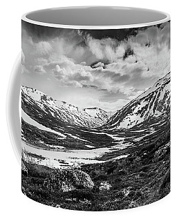 Coffee Mug featuring the photograph Green Carpet Under The Cotton Sky by Dmytro Korol