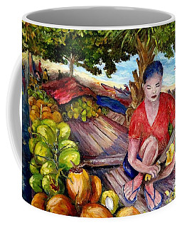 Green Coconut Cafe. Coffee Mug