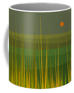 Coffee Mug featuring the digital art Green Fields by Val Arie
