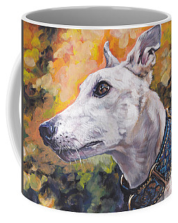 Coffee Mug featuring the painting Greyhound Portrait by Lee Ann Shepard