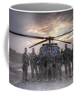 Group Photo Of Uh-60 Black Hawk Pilots Coffee Mug