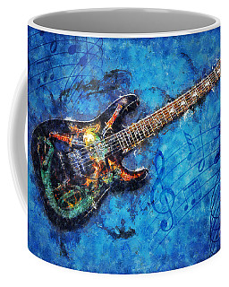 Coffee Mug featuring the digital art Guitar Love by Ian Mitchell