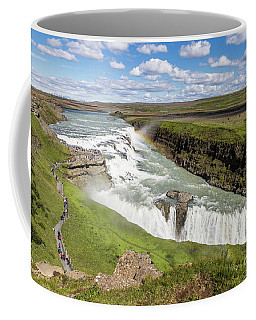 Gullfoss Waterfall In Iceland Coffee Mug