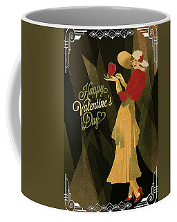 Coffee Mug featuring the digital art Happy Valentines Day by Jeff Burgess