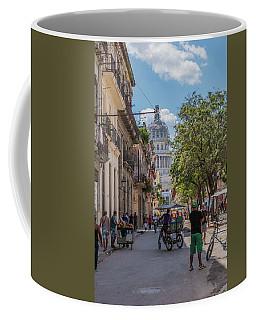 Havana Street Coffee Mug by David Warrington