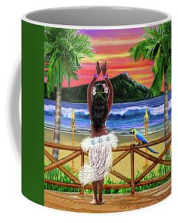 Hawaiian Sunset Hula Coffee Mug