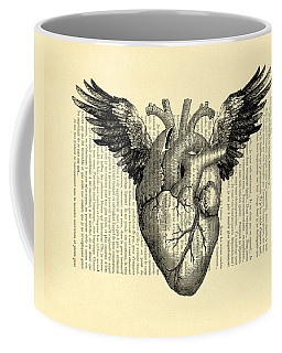 Heart With Wings Coffee Mug