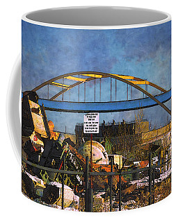Coffee Mug featuring the digital art #1 Heavy Melt Steel by David Blank