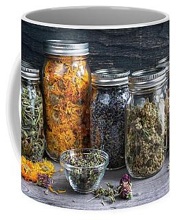 Coffee Mug featuring the photograph Herbs In Jars by Elena Elisseeva
