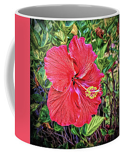 Coffee Mug featuring the photograph Hibiscus Flower by Lewis Mann