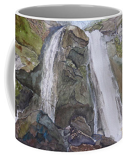 Coffee Mug featuring the painting High Shoals Falls by Joel Deutsch