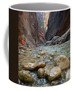 Hiking The Narrows Coffee Mug