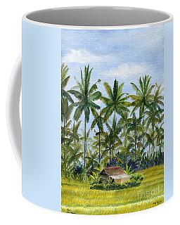 Coffee Mug featuring the painting Home Bali Ubud Indonesia by Melly Terpening