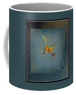 Coffee Mug featuring the digital art Homeward Bound by Iris Gelbart