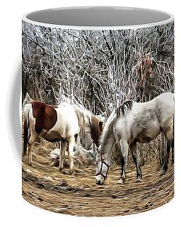 Horses On The Farm Coffee Mug