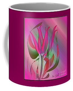 Coffee Mug featuring the digital art Hot Pink by Iris Gelbart