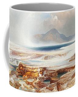 Hot Springs Of The Yellowstone Coffee Mug by Thomas Moran