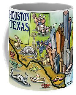 Houston Texas Cartoon Map Coffee Mug