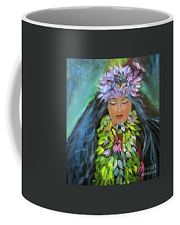 Coffee Mug featuring the painting Hula Maiden by Jenny Lee