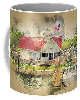 Hyannis The Coastguard Coffee Mug by Jack Torcello