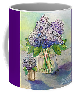 Coffee Mug featuring the painting Hydrangea  by Rosemary Aubut