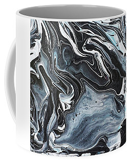 Coffee Mug featuring the painting I Know It Looks Like Marble by Robbie Masso