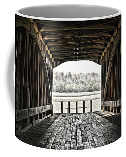 Inside The Covered Bridge Coffee Mug by Joanne Coyle