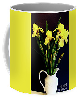 Iris Bouquet Coffee Mug by Marsha Heiken