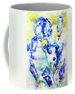 Coffee Mug featuring the painting Irises by Jasna Dragun