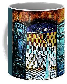Coffee Mug featuring the digital art Isaiah 22 22 by Jennifer Page