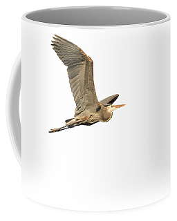 Coffee Mug featuring the photograph Isolated Great Blue Heron 2015-5 by Thomas Young