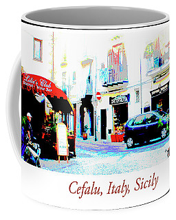 Italian City Street Scene Digital Art Coffee Mug