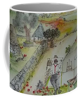 Italian  Landscape Scroll Coffee Mug