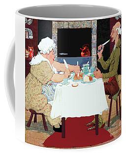 Vintage Jack Sprat Mother Goose Nursery Rhyme Coffee Mug