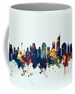 Jakarta Skyline Indonesia Bombay Coffee Mug by Michael Tompsett