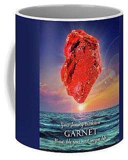 January Birthstone Garnet Coffee Mug