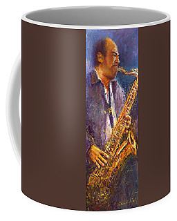 Jazz Saxophonist Coffee Mug