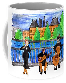 Jazz Trio On Pont Ile Saint Louis Coffee Mug