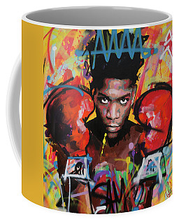Coffee Mug featuring the painting Jean Michel Basquiat by Richard Day