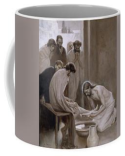 Jesus Washing The Feet Of His Disciples Coffee Mug