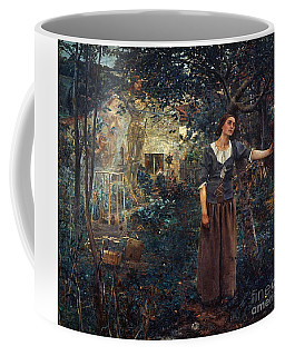 Coffee Mug featuring the  Joan Of Arc C1412-1431 by Granger