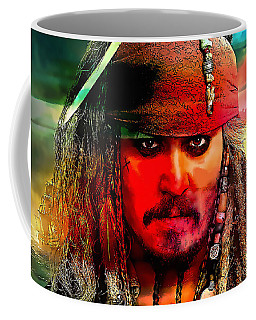 Johnny Depp Painting Coffee Mug